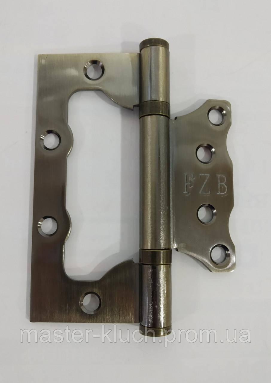 Петли дверные FZB100*75*2,5 AB (бронза)