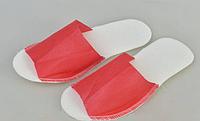 Тапочки одноразовые Panni Mlada, красные (36-40) 25 пар