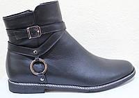 Ботинкидемисезонные женские большогоразмера на низком каблуке от производителя модель БР1288
