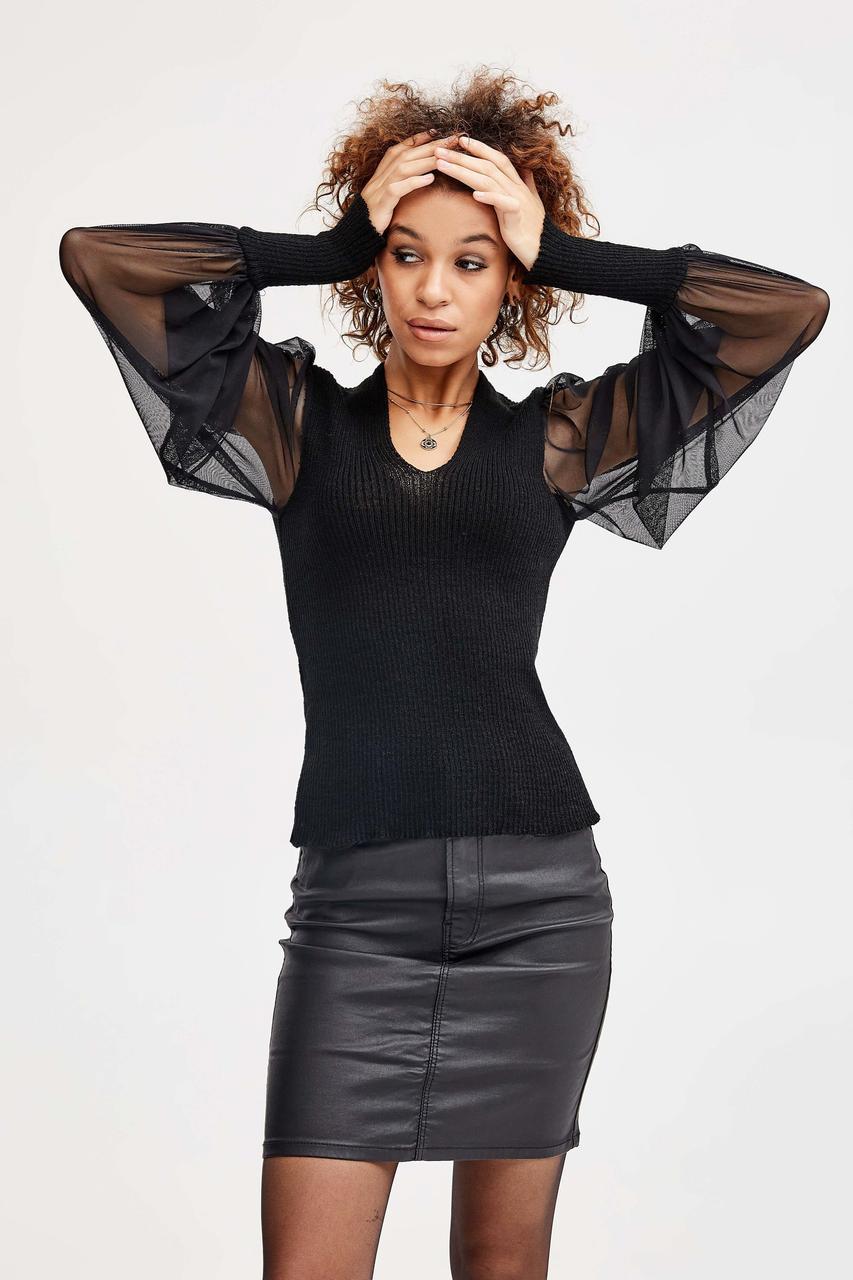 Модний джемпер з ефектним воланом «Блузон», 42-48