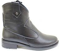 Ботинки черные кожаные женские демисезонные от производителя модель СА217-1, фото 1