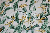 Тканина лен вискозний, натуральний, легкій. № 865 Фон білий., фото 1