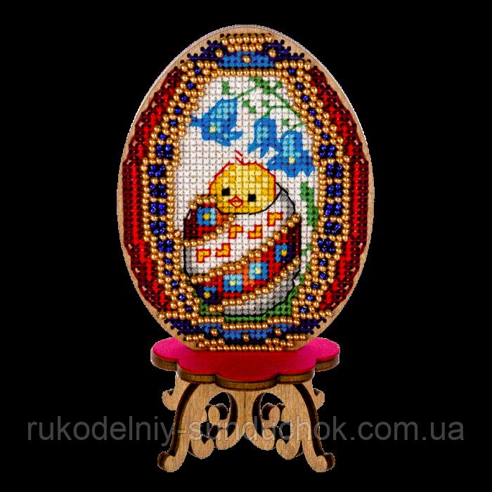 Заготівля для вишивки великоднього яйця нитками по дереву FLHW-021