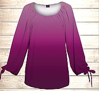 Платье-туника Carmen Ombre Фуксия, все размеры