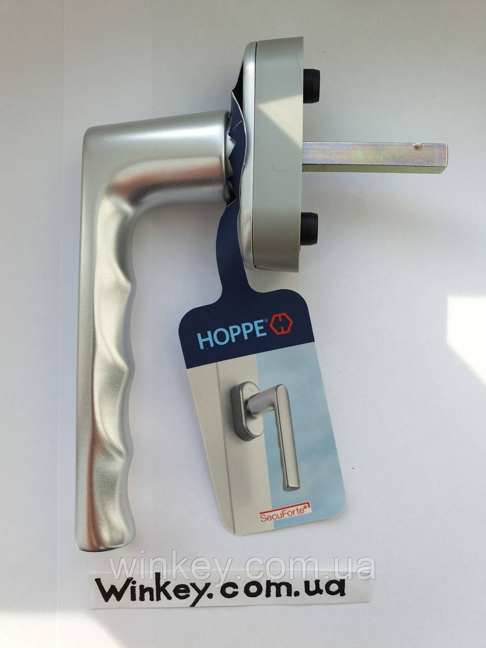 Ручка оконная Hoppe Нamburg SecuForte серебро оигинал Германия