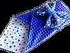 Плюшевий пледик-конвертик на виписку з бантом