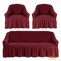 Комплект чехлов для мягкой мебели Love You, пурпурный
