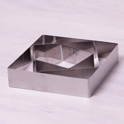 Набор из 3 квадратных форм Kamille для выкладки/вырубки 10*10/15*15/20*20см, фото 2