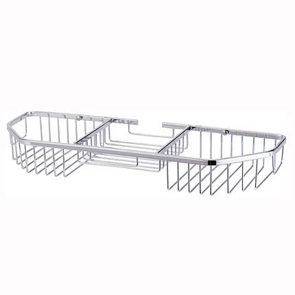 Корзинка для ванной Besser прямоугольная 40.5*13*5см с 3 секциями, фото 2