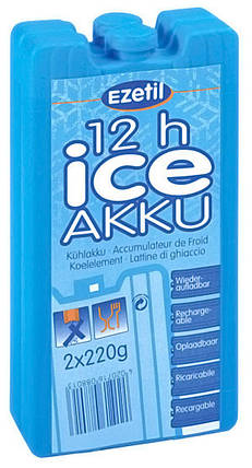 Акуммулятор холода Ezetil Ice Akku 2*220г (90*40*165мм), фото 2
