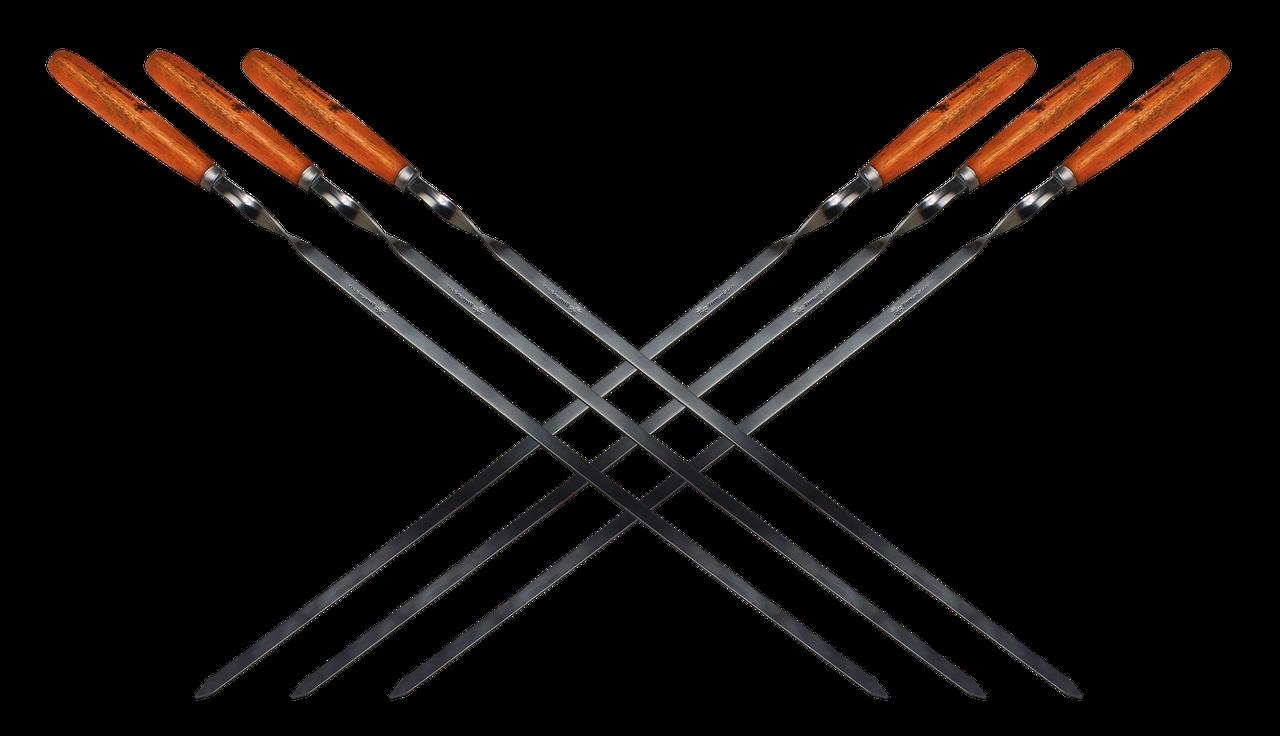 Набор Time Eco из 6 шампуров 60*1*0.15см с деревянными ручками