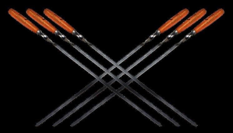 Набор Time Eco из 6 шампуров 60*1*0.15см с деревянными ручками, фото 2