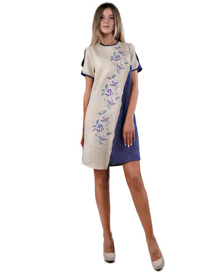 Оригінальне вишите плаття SL 164 (XS-3XL в кольорах)