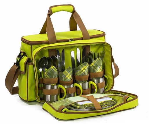 Набор для пикника на 4 персоны Time Eco Picnic в комплекте с изотермической сумкой 16л, фото 2