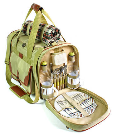 Набор для пикника на 4 персоны Time Eco Premium Picnic в комплекте с изотермической сумкой 30л, фото 2
