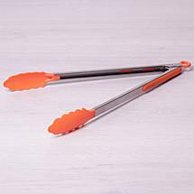 Щипцы нейлоновые 35.5см с ручками из нержавеющей стали, фото 2