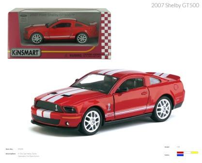 KINSMART Shelby GT500 2007, метал, инерц., в кор. 16х8х7 /96-4