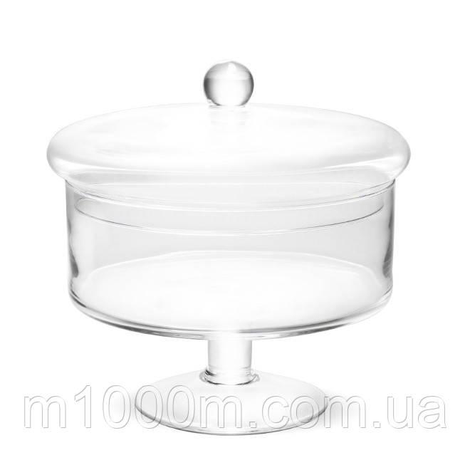 Ємність скляна з кришкою D-18 см. 8426