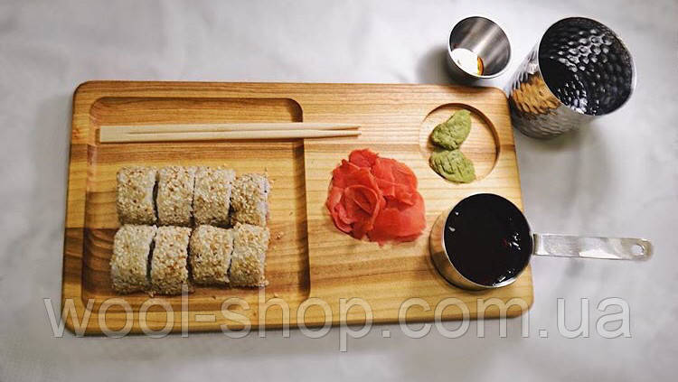 Деревянная менажница под суши