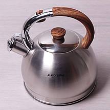 Чайник Kamille 2л из нержавеющей стали со свистком, фото 3