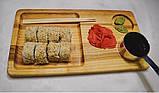 Деревянная менажница под суши, фото 2