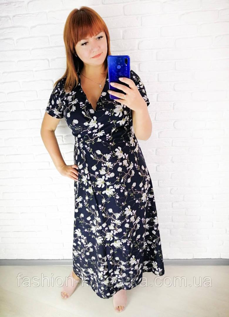 Легкое летнее женское платье,размеры:48,50,52,54.