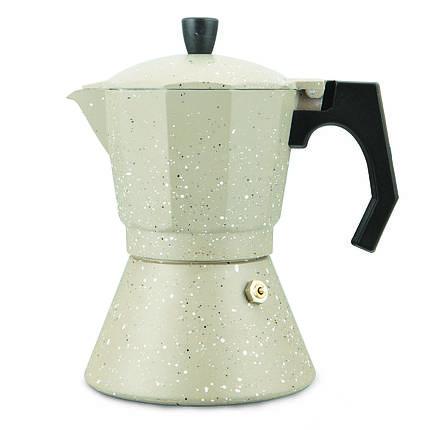 Кофеварка гейзерная 300мл (6 порций) из алюминия с широким индукционным дном, фото 2