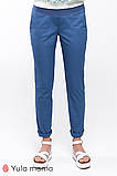Штани для вагітних; MELANI TR-20.011 блакитні, фото 2