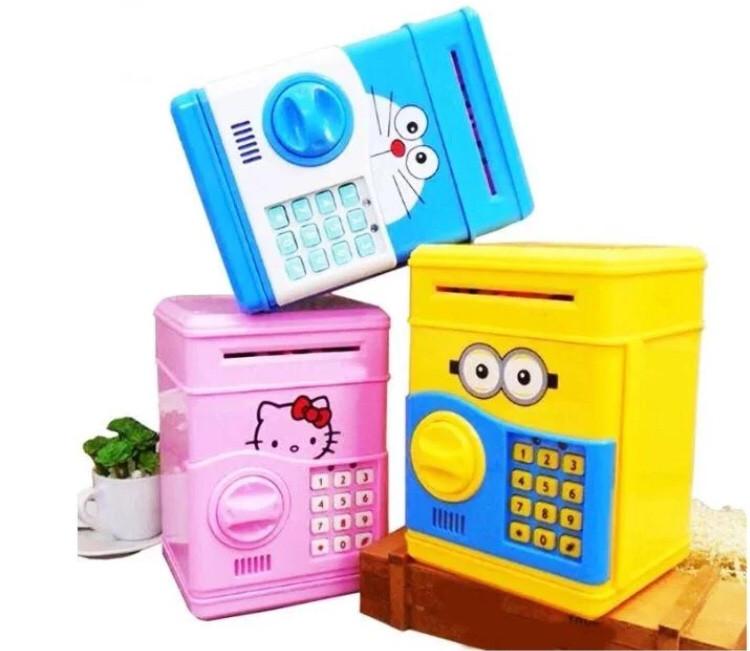 Детский электронный сейф-копилка c кодовым замком Minion, Hello Kitty, Daemon Cat