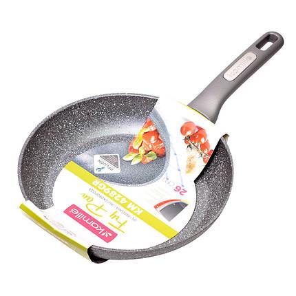 Сковорода Kamille 26см с гранитным покрытием из алюминия для индукции, фото 2