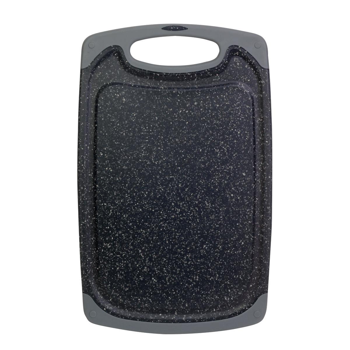 Доска разделочная 31,5*20*0.8см пластиковая (серый мрамор)
