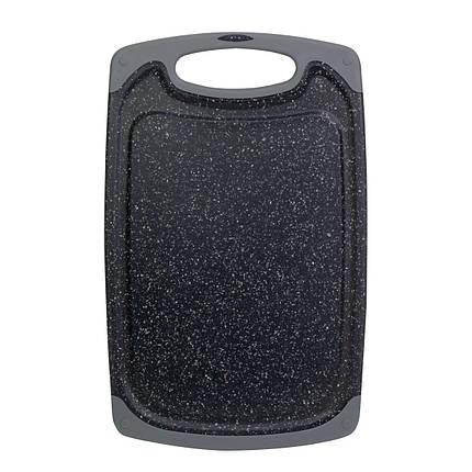 Доска разделочная 31,5*20*0.8см пластиковая (серый мрамор), фото 2