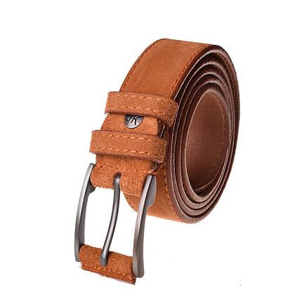 Натуральная кожаный мужской ремень JK Рыжий (MC354060101), фото 2