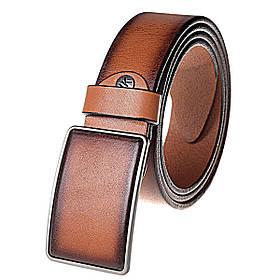 Натуральная кожаный мужской ремень JK Светло-коричневый (MG402040110)