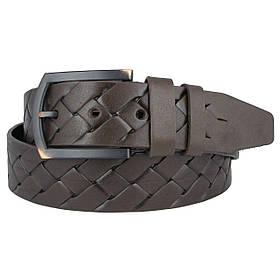 Натуральная кожаный мужской ремень JK Темно-коричневый (MC451054518)