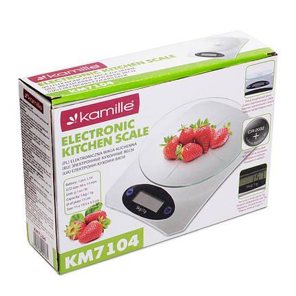 Кухонные весы электронные Kamille на 5кг, фото 2