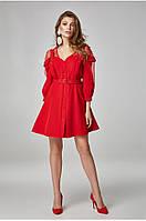 Женской платье-сарафан на бретелях Lipar Красное