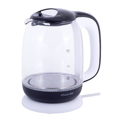 Чайник Kamille 1,7л электрический из боросиликатного стекла, фото 2