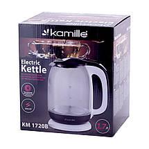Чайник Kamille 1,7л электрический из боросиликатного стекла, фото 3