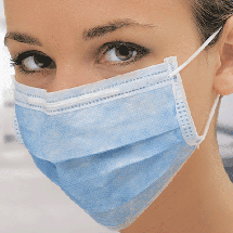 Маски захисні Голубі Medicom Safe + mask Economy 50 шт/уп, фото 3