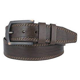 Натуральная кожаный мужской ремень JK Темно-коричневый (MC451058318)