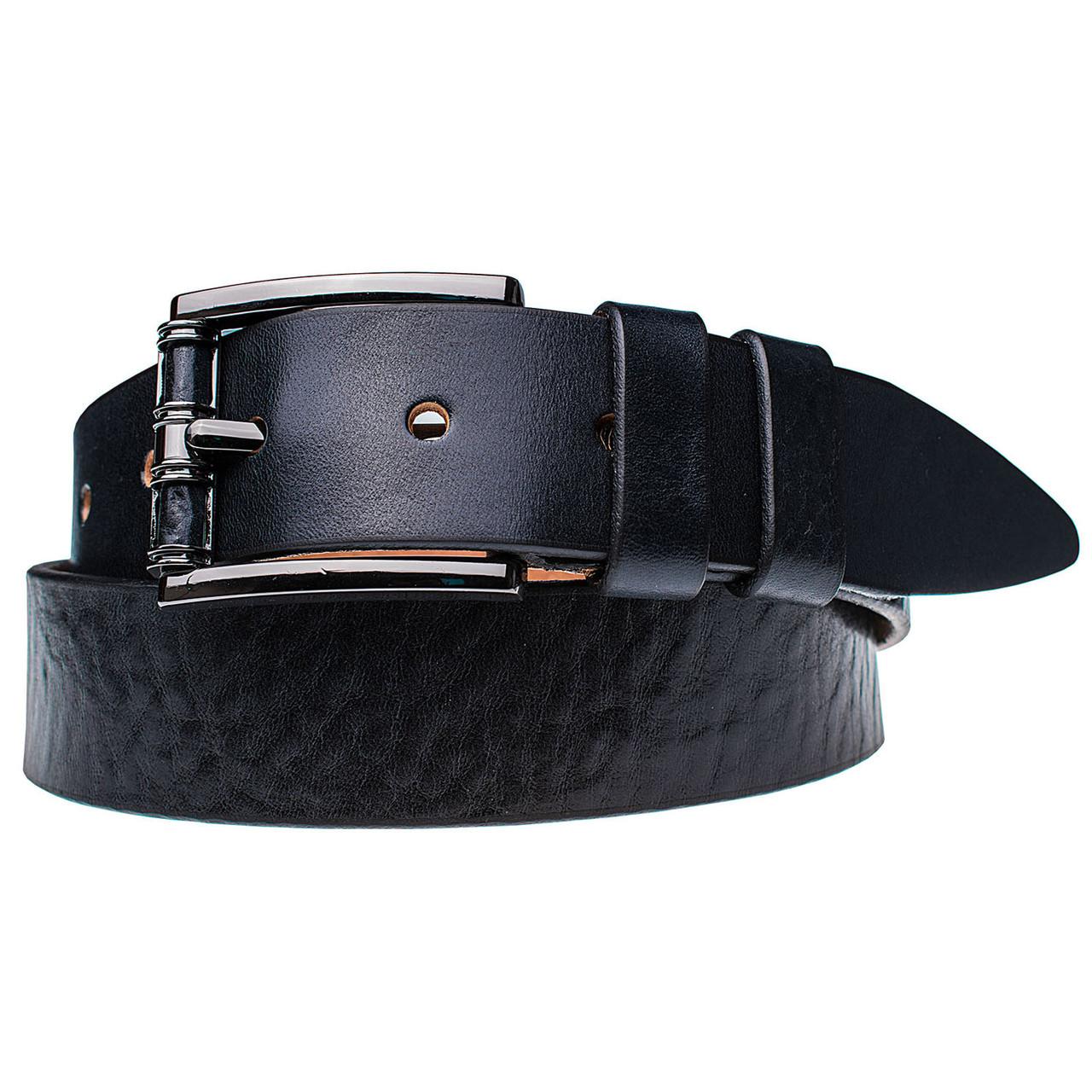 Натуральная кожаный мужской ремень JK Синий (MC402020144)