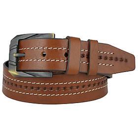 Натуральная кожаный мужской ремень JK Светло-коричневый (MC451044021)