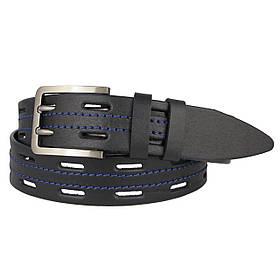 Натуральная кожаный мужской ремень JK Черный (MC401016822)