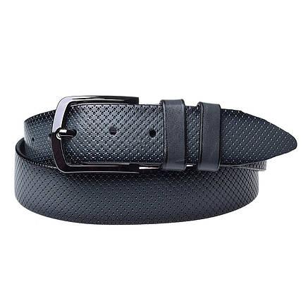 Натуральная кожаный мужской ремень JK Серый (MC352107333), фото 2