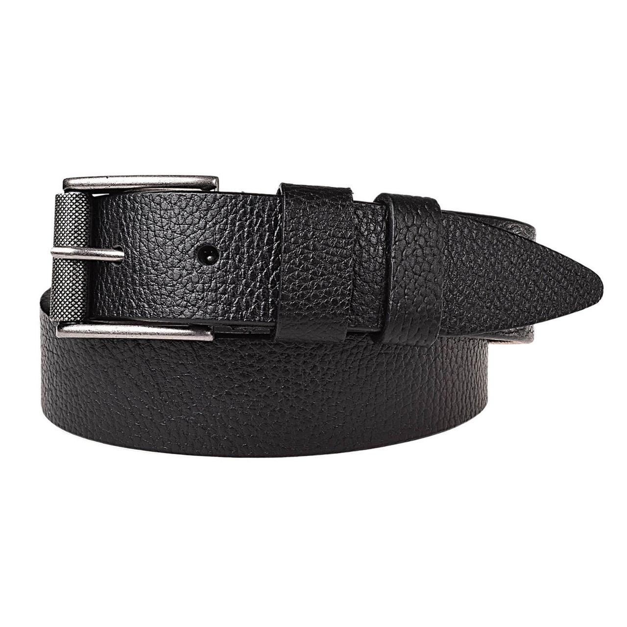 Натуральная кожаный мужской ремень JK Черный (MC402016002)