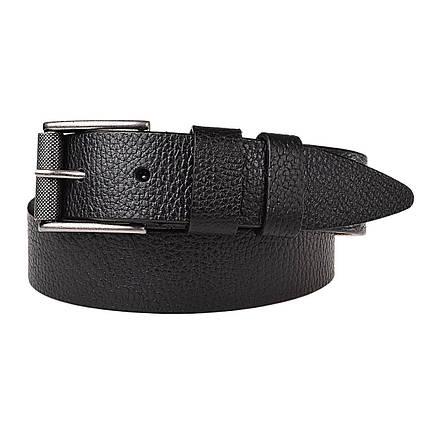 Натуральная кожаный мужской ремень JK Черный (MC402016002), фото 2