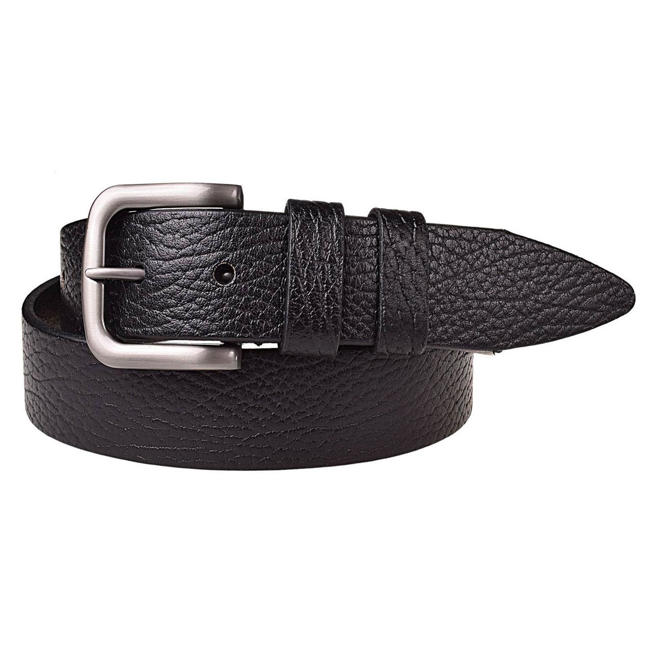 Натуральная кожаный мужской ремень JK Черный (MC402016204)