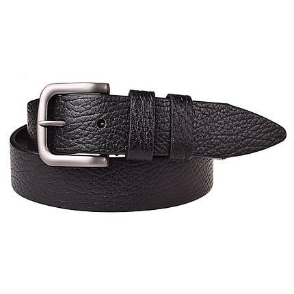 Натуральная кожаный мужской ремень JK Черный (MC402016204), фото 2