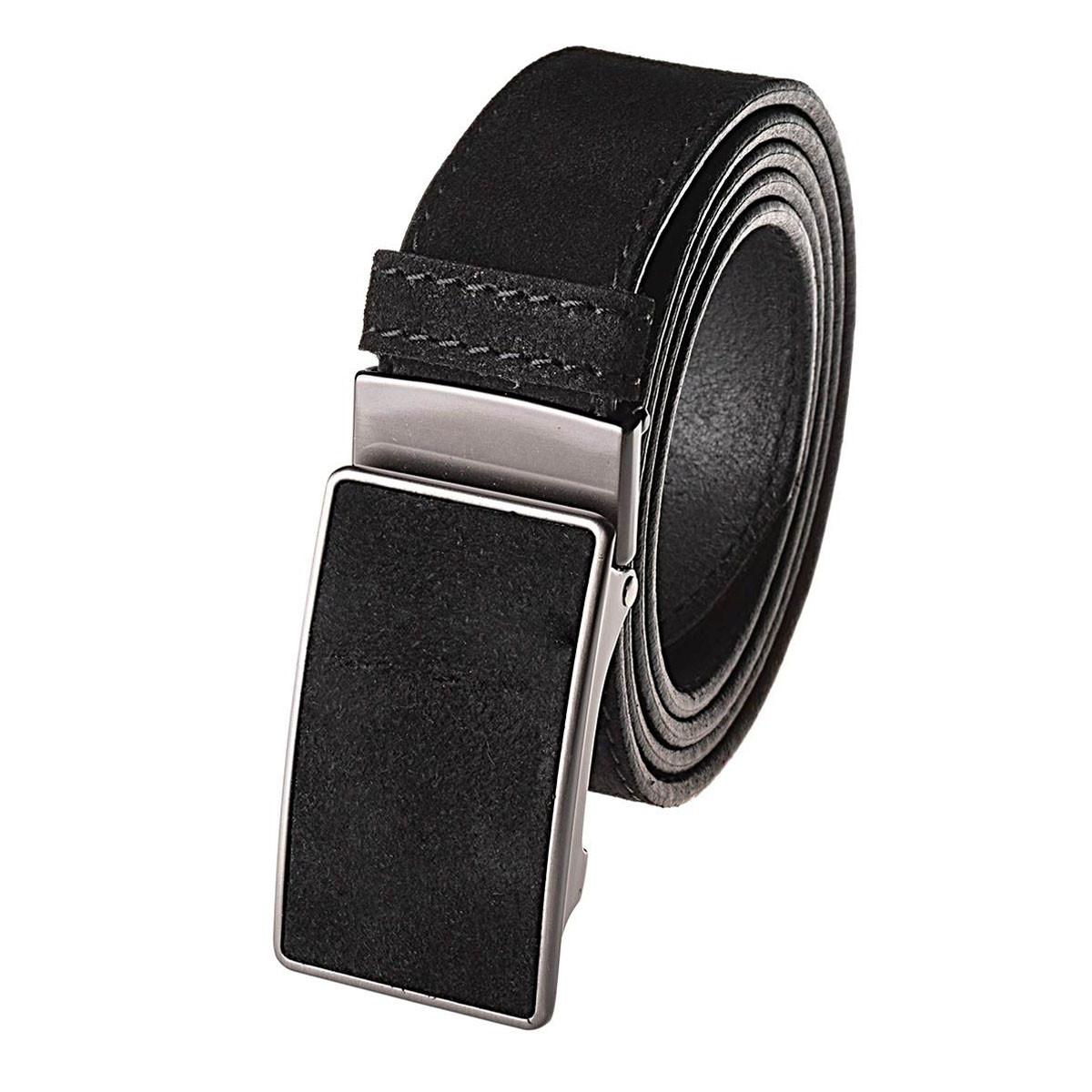 Натуральная кожаный мужской ремень JK Черный (MZ354010101)